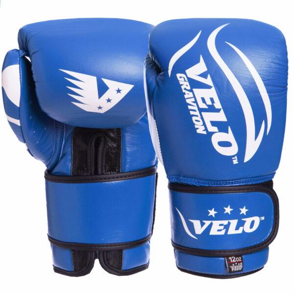 Перчатки боксерские кожаные VELO VL-2208 10-12 унций цвета в ассортименте
