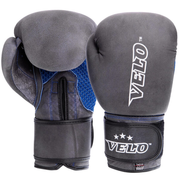 Перчатки боксерские кожаные VELO VL-2209 10-12 унций цвета в ассортименте