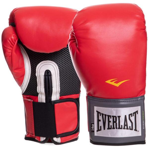 Перчатки боксерские EVERLAST PRO STYLE TRAINING EV1200008 14 унций красный