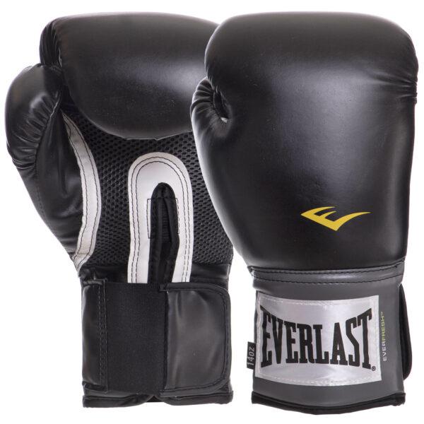 Перчатки боксерские EVERLAST PRO STYLE TRAINING EV1200014 14 унций черный