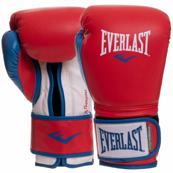 Перчатки боксерские EVERLAST POWERLOCK P00000730 16 унций красный-синий