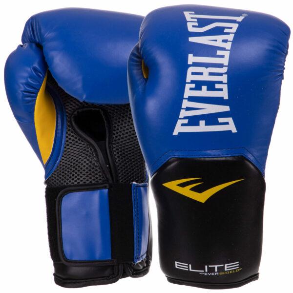 Перчатки боксерские EVERLAST PRO STYLE ELITE PP00001242 12 унций синий-черный