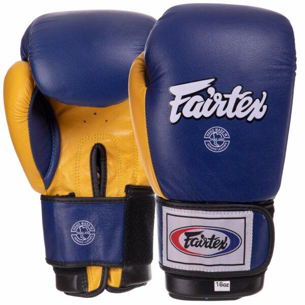 Боксерские перчатки кожаные FAIRTEX BO-3783 12-16 унций цвета в ассортименте