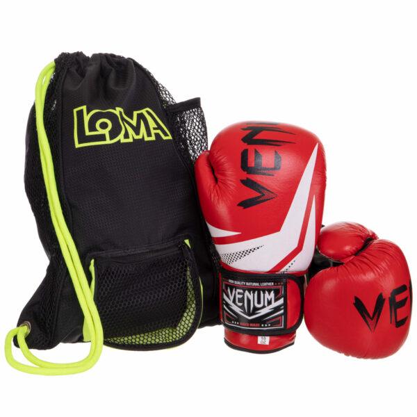 Боксерские перчатки кожаные LOMA VNM 017-N цвета в ассортименте