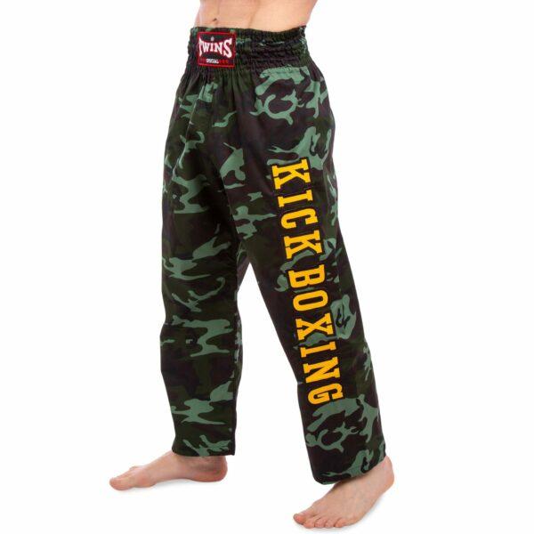 Штаны для кикбоксинга TWINS KBT-1 M-XL камуфляж зеленый
