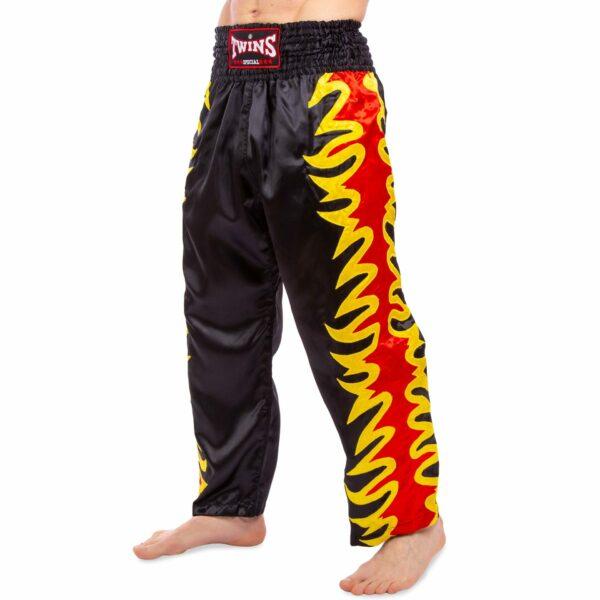 Штаны для кикбоксинга TWINS KBT-3 M-XL черный-красный-желтый