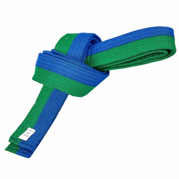 Пояс для кимоно двухцветный SP-Planeta BO-7257 длина-220-280см синий-зеленый