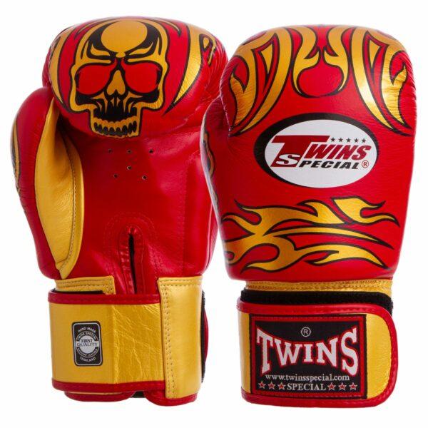 Перчатки боксерские кожаные TWINS FBGVL3-31 10-18 унций цвета в ассортименте