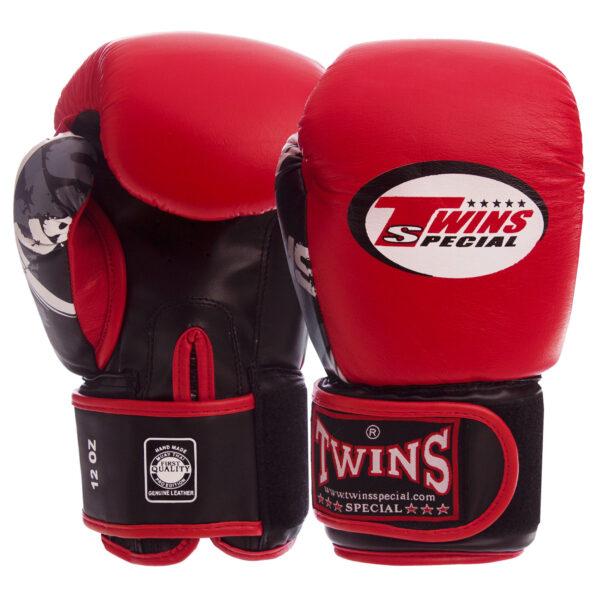 Перчатки боксерские кожаные TWIN CLASSIC 0269 10-16 унций цвета в ассортименте