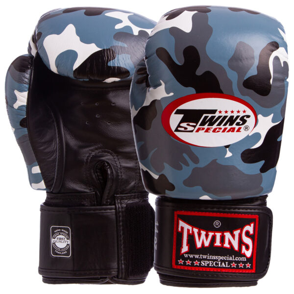 Перчатки боксерские кожаные TWINS FBGVL3-ARGY 12-14 унций серый