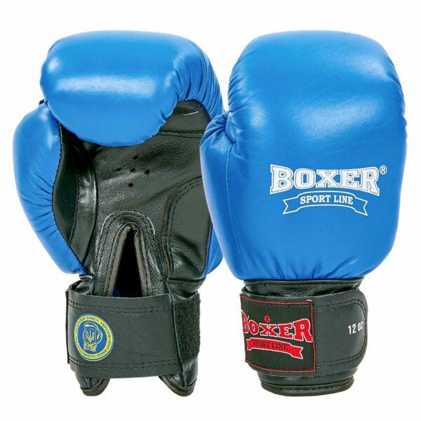 Перчатки боксерские профессиональные с печатью ФБУ BOXER кожаные 2001 Profi 10-12 унций цвета в ассортименте