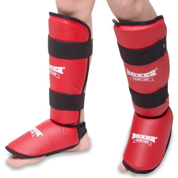 Защита голени и стопы для единоборств BOXER 2002 S-XL цвета в ассортименте