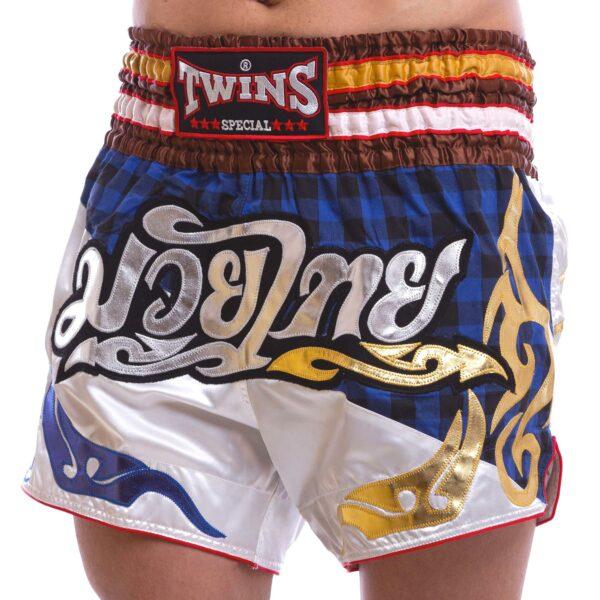 Шорты для тайского бокса и кикбоксинга TWINS NTBS-002 S-XL белый