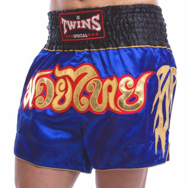 Шорты для тайского бокса и кикбоксинга TWINS NTBS-007 S-XXL синий
