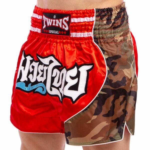 Шорты для тайского бокса и кикбоксинга TWINS NTBS-158 M-XXL красный