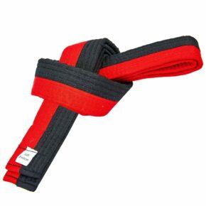 Пояс для кимоно двухцветный SP-Planeta BO-7259 длина-220-280см черный-красный