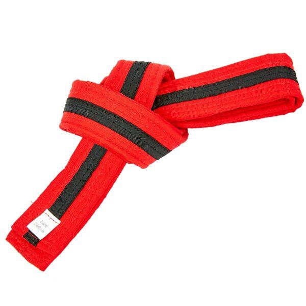 Пояс для кимоно двухцветный SP-Planeta BO-7265 длина-220-280см красный-черный