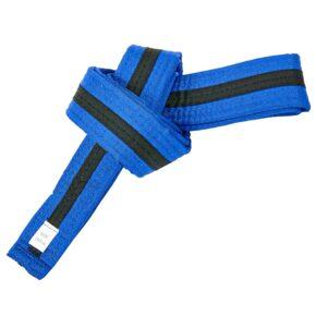 Пояс для кимоно двухцветный SP-Planeta BO-7266 длина-220-280см синий-черный