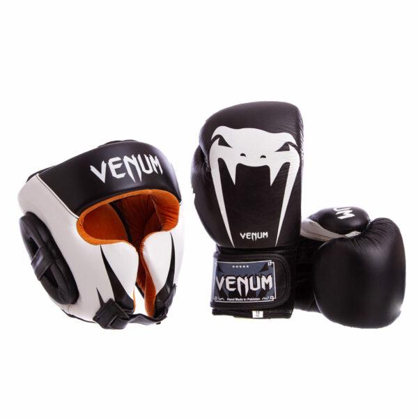 Комплект защиты для бокса шлем перчатки VNM GIANT BO-6652-8315- M-XL 10-12 унций цвета в ассортименте