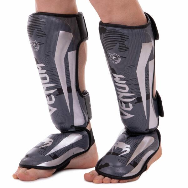 Защита голени и стопы для единоборств VNM BO-2531 S-XL черный-серый камуфляж