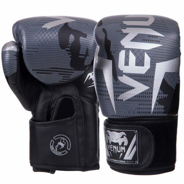 Перчатки боксерские VNM BO-2532 6-14 унций черный-серый