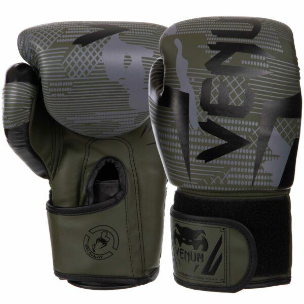 Перчатки боксерские VNM BO-2533 6-14 унций черный-зеленый