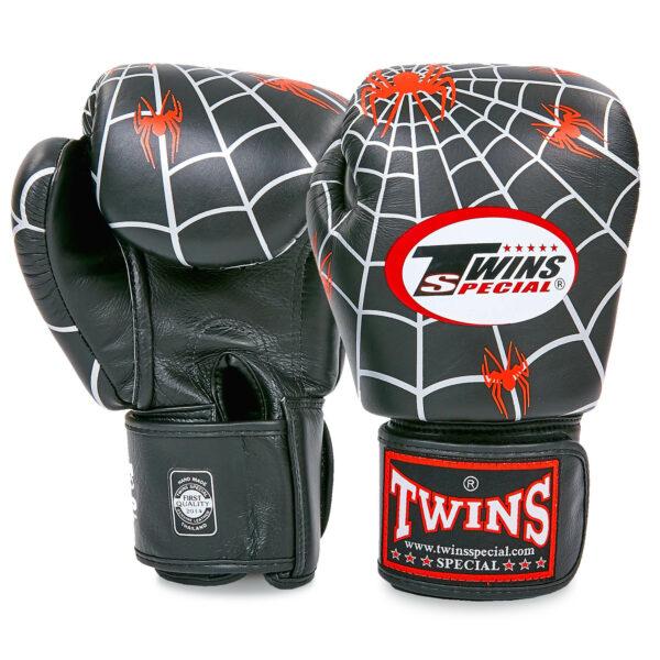 Перчатки боксерские кожаные TWINS FBGVL-3-8C-BK 10-14 унций черный