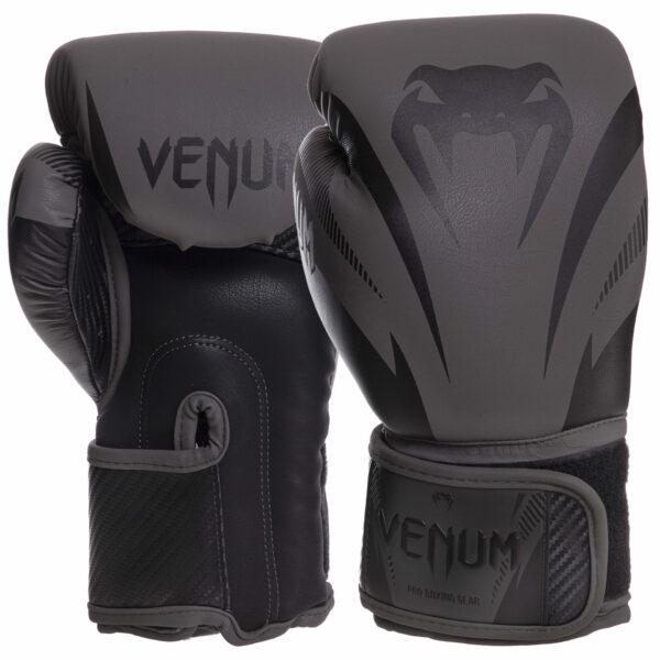 Перчатки боксерские кожаные VENUM IMPACT VN03284-114 10-14 унций черный