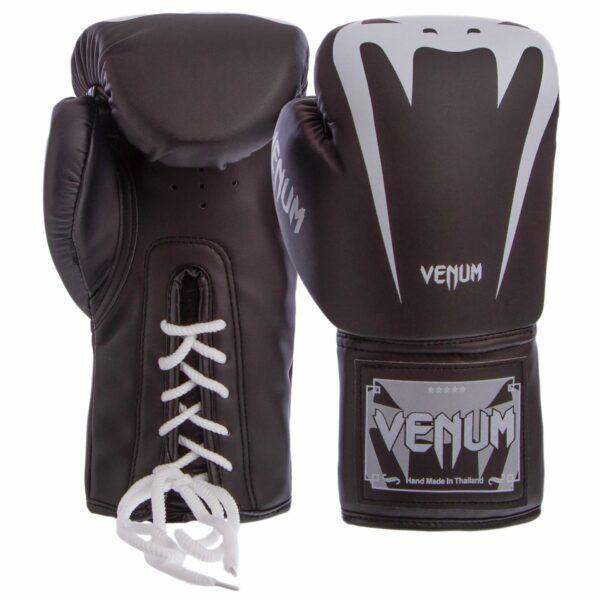 Перчатки боксерские професиональные на шнуровке VNM BO-8350 8-12 унций цвета в ассортименте