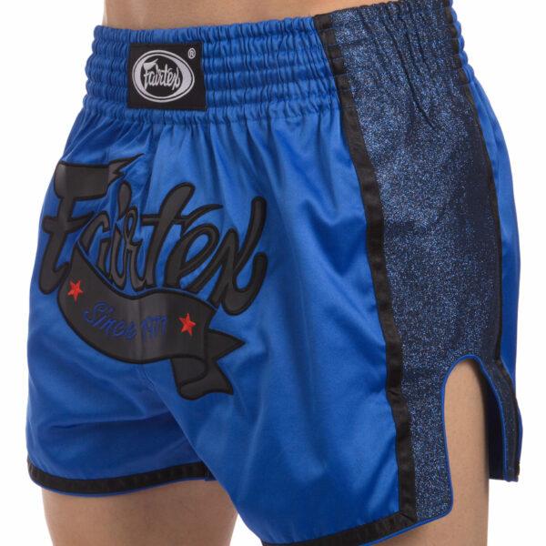 Шорты для тайского бокса и кикбоксинга FAIRTEX BS1702 S-XL синий-черный