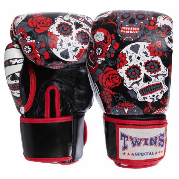 Перчатки боксерские кожаные TWN VL-2059 10-12 унций красный-черный