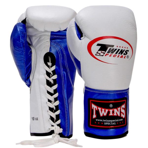 Перчатки боксерские кожаные професиональные на шнуровке TWN BO-0279 10-16 унций цвета в ассортименте