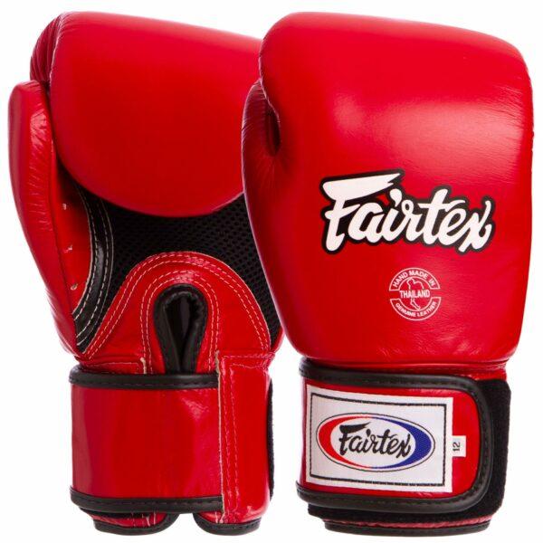 Перчатки боксерские кожаные FAIRTEX BGV1 10-18 унций цвета в ассортименте