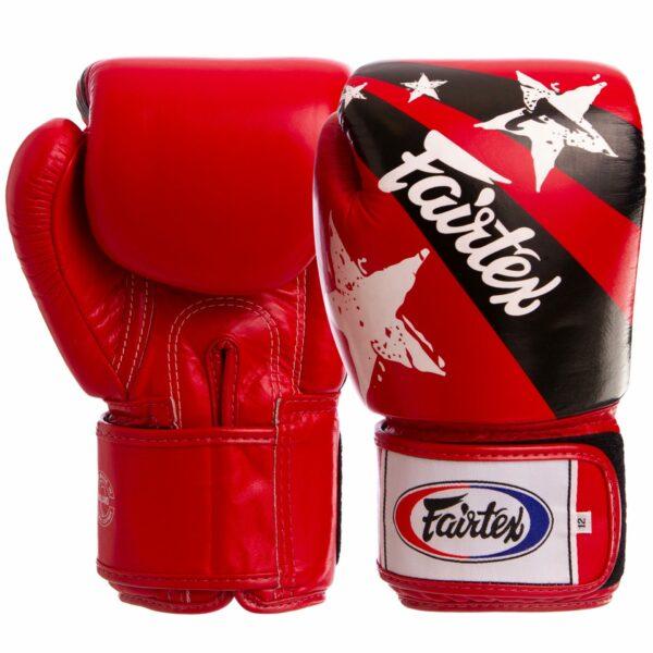 Перчатки боксерские кожаные FAIRTEX BGV1N NATION PRINT 10-16 унций цвета в ассортименте