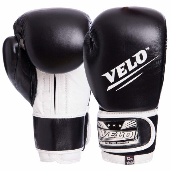 Перчатки боксерские кожаные VELO VL-2210 10-14 унций цвета в ассортименте