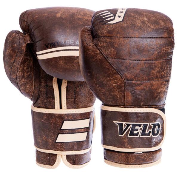 Перчатки боксерские кожаные VELO VL-2214 10-14 унций коричневый