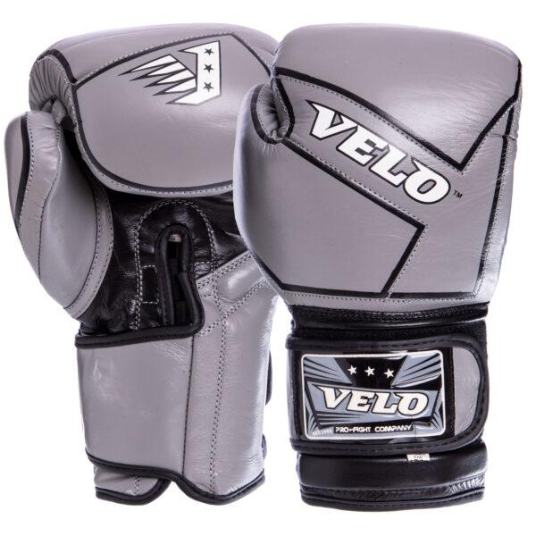 Перчатки боксерские кожаные VELO VL-2218 10-12 унций цвета в ассортименте