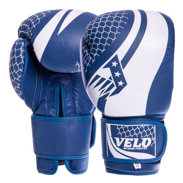 Перчатки боксерские кожаные VELO VL-2224 10-14 унций цвета в ассортименте