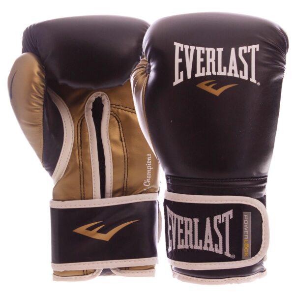 Перчатки боксерские EVERLAST POWERLOCK P00000723 14 унций черный-золотой