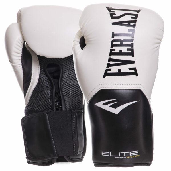 Перчатки боксерские EVERLAST PRO STYLE ELITE P00001197 12 унций белый-черный