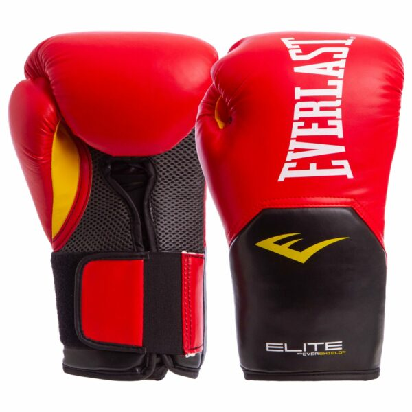 Перчатки боксерские EVERLAST PRO STYLE ELITE P00001198 14 унций красный-черный