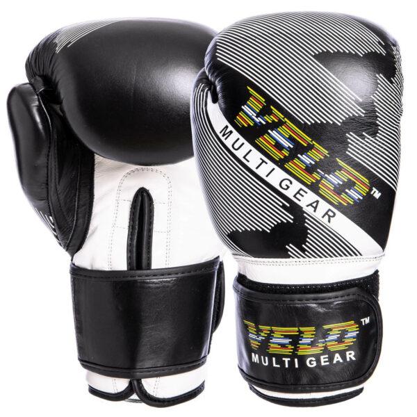 Перчатки боксерские кожаные VELO VL-2229 10-14 унций черный