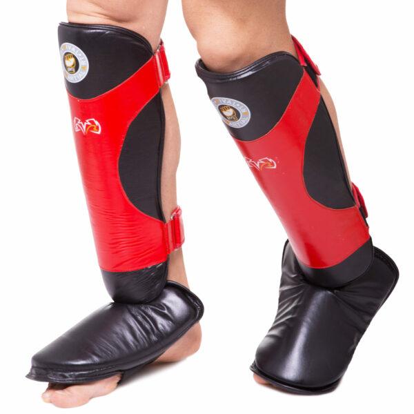 Защита голени и стопы для единоборств RIVAL MA-6005 L-XL черный-красный