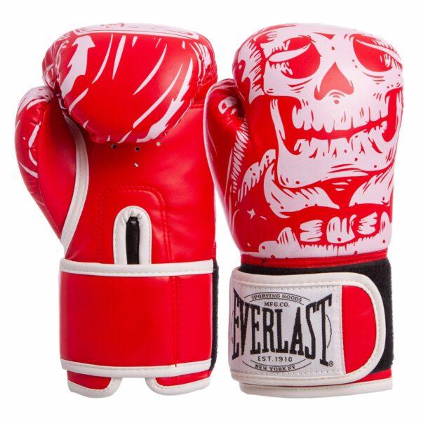 Перчатки боксерские ELS SKULL BO-5493 8-12 унций цвета в ассортименте
