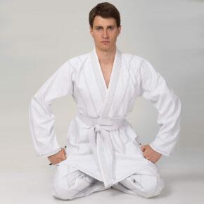Кимоно для джиу-джитсу (без пояса) VELO VL-6649 140-200см белый