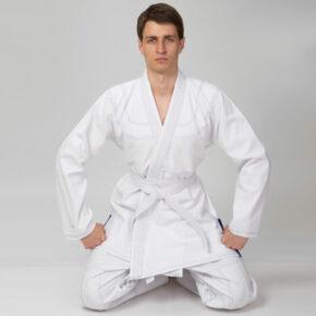 Кимоно для джиу-джитсу (без пояса) VELO VL-6650 140-200см белый