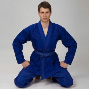 Кимоно для джиу-джитсу (без пояса) VELO VL-6651 140-200см синий