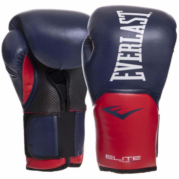 Перчатки боксерские EVERLAST PRO STYLE ELITE P00001203 14 унций темно-синий-красный