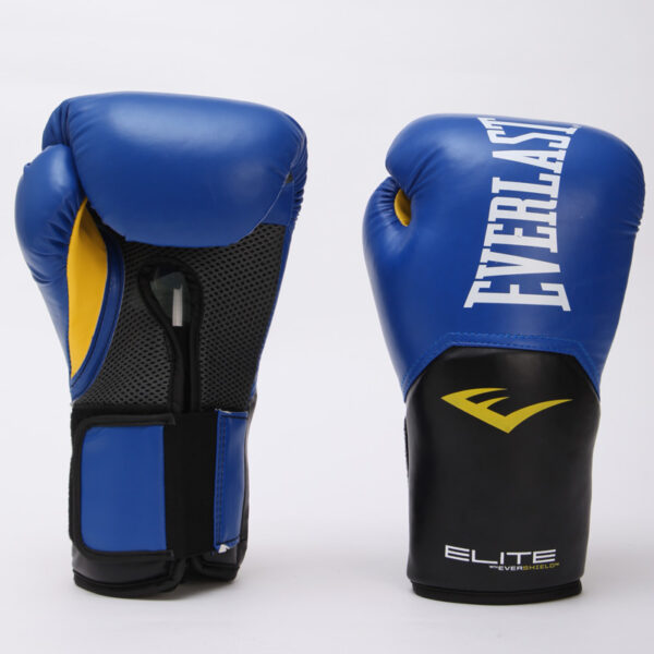 Перчатки боксерские EVERLAST PRO STYLE ELITE P00001205 14 унций синий-черный