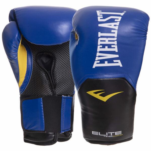 Перчатки боксерские EVERLAST PRO STYLE ELITE P00001206 16 унций синий-черный